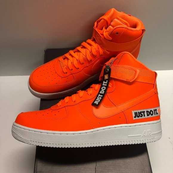Nike Air Force 1 Hi '07 LV8 JDI Orange Sneaker10.5 NWT